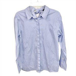 Nordstrom Halogen Striped Button Up Tie-Back Shirt
